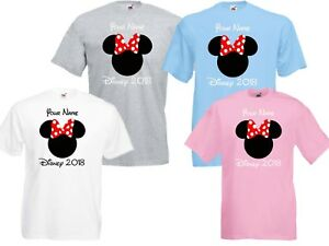 Personalised Minnie Mouse Disney World Vacation T shirts Florida/Paris