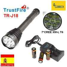 LINTERNA LED TRUSTFIRE TR-J18 7*CREE XM-L T6 8000LM 26650 + cargador + pilas
