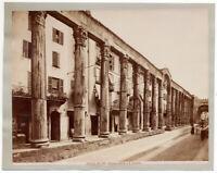 Milano San Lorenzo Colonne antiche Foto originale all' albumina 1880c L887