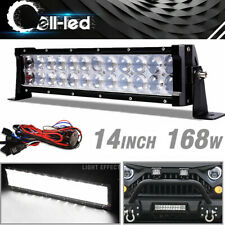 14Inch LED Work Light Bar Combo Spot Flood Offroad Dual Row 4x4 Truck ATV SUV