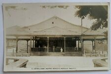 1929 RPPC Real Photo Postcard Banes Cuba Teatro Heredia Theater front view boy