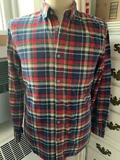 """""""Line of Trade For Daily Use""""  Mens Cotton Flannel shirt M Medium Plaid"""