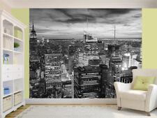 New York City skyline at sunset black and white Wallpaper wall mural (14116483)