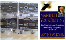 Wayne Dyer The Power of Intention 4 Cassettes and Manifest Your Destiny Book