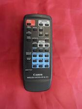 Canon WIRELESS CAM-CORDER REMOTE CONTROL MODEL:WL-D71 EX/CON