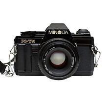 Minolta X-7A 35mm SLR Film Camera with 50 mm lens Kit