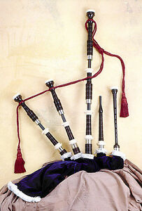 Bagpipes: Dunfion African Blackwood Highland Pipes