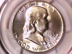 1955 P Franklin Half Dollar PCGS MS 64 FBL 41913749 ? Bugs Bunny ?