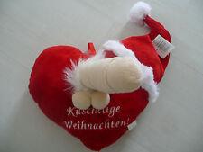 SONDERPREIS! Sexy Weihnachts-Herzkissen mit Penis und Nikolausmütze in rot! NEU!