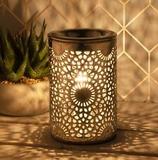 Desire Aroma Electric  Lamp Wax Melt And  Oil Burner Silver Colour