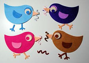 Die Cut Felt Birds Easter Chicks Hens Birds Appliques Trimmings Embellishments