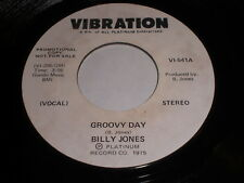 Billy Jones: Groovy Day / (Instrumental) 45 - Soul