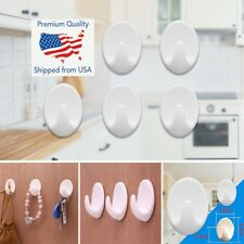 5PCS Self Adhesive Hanger Hooks Stick On Wall Sticky Towel / Coat Hanging Hook