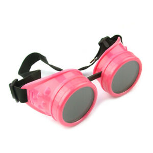 Glasses Welding Plastic Steampunk Cyber Cosplay Gothic Retro Victorian Goggles