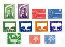 EUROPA - SELECTION OF MINT STAMPS (6 SETS) FROM 1956, 1957 & 1959 LMM/UMM