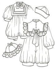 "23-24"" boy girl re born Doll Toddler romper hat Pattern vintage look 1013"