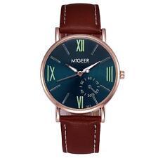 Luxury Fashion Crocodile Faux Leather Mens Analog Watch Wrist Watches Gifts Hot