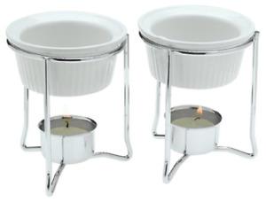 Butter Warmer Ceramic Cups Holders Seafood Burner Burning Table Fondue Set Crab