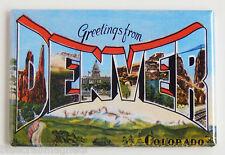 Greetings from Denver FRIDGE MAGNET (2 x 3 inches) colorado travel souvenir