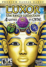 Luxor: The King's Collection PC Video Game 4 Games In 1 mahjong amun Pre-owned
