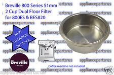 Breville Coffee Machine Dual Floor 2 Cup Filter 800ES BES820 Part 800ES/235.1