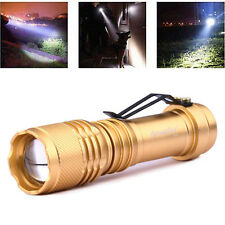 Top TACTICAL  T6 LED Flashlight Torch Lamp 20000LM 3 Modes Zoomable Fit 14500/AA