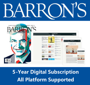 Barron's 5 Years Subscription All Platforms Region Free Fast Delivery