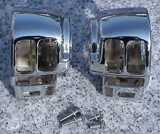 Harley Davidson Electra Glide Road King CHROME SWITCH HOUSINGS