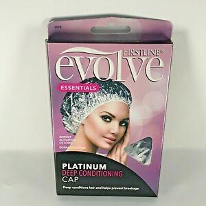 Firstline Evolve Essential Platinum Deep Conditioning Shower Cap Hair Bonnet New