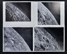 1960 Photographic Lunar Moon Map - 4 Photo Set - Field Inghirami F7 - Craters