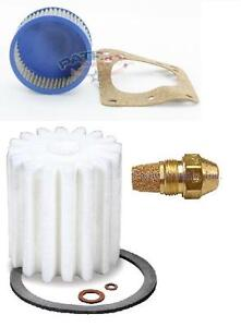 """Oil Burner Tune Up Kit 0.85 Gallon 80° Solid Nozzle, Filter And """"A"""" Pump Screen"""
