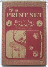 RRP £125 GRAHAM CARTER Birds & Bugs 4 x screenprint set box set Limited Edition