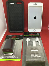 Apple iPhone 6 32GB Gold Unlocked Straight Talk Bundle Otter Case Chords Etc.