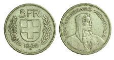 pci1415) Svizzera  Switzerland  Helvetia - 5 Franchi Francs 1932 B not cleaned