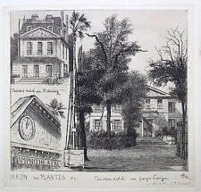 """Eau Forte, M. Potémont, """"Jardin des Plantes, 1827"""", Paris 19ème siècle"""