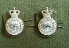 Pre Owned. Original Matching Pair Army Catering Corps Staybright Collar Badges