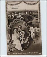 Adel & Monarchie 1913 Braunschweig Totalansicht Herzog Herzogin von Braunschweig