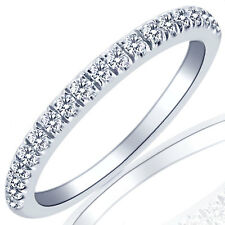 0.32 CARAT (19 STONES) DIAMOND WEDDING ANNIVERSARY BAND RING 10K WHITE GOLD
