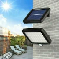 56LED Solar Flood Light PIR Motion Sensor Wall Light Outdoor Garden Lamp