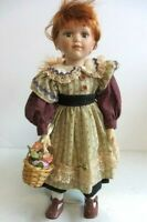 """'The  Emerald Doll Collection'  Porcelain Doll  16"""" USED - FREE SHIPPING"""