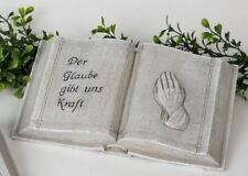 766762 grabdeko Livre 21cm aus pierre synthétique de main fabriqué NEUF