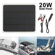 12V/5V Solarpanel Solarmodul set Ladegerät USB für Auto Boot Caravan Netzteil