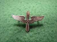 Vintage U.S.Military Air Force Silver Propeller & Wings Insignia Pin