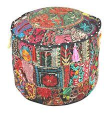 "Decorative Pillow Decor, Indian Pouffe, Round Pouf,Boho Foot Stool 22"" Pouffe"