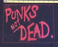 PUNKS NOT DEAD big back patch  punk exploited