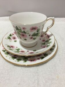 VINTAGE QUEEN ANNE BONE CHINA TRIO - CUP, SAUCER & PLATE - Pattern 8654
