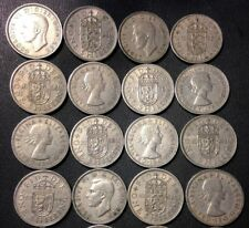 FREE SHIPPING Unsearched Old Great Britain Coin Lot 25 Two Pence