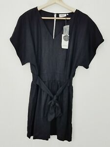 JEANSWEST | Womens Black Morgan Playsuit NEW + TAGS RRP$89.99 [ Size AU 12 ]