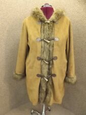 Outstanding! Dennis Basso NEW Faux Suede Fur Toggle Button Duffle Jacket Coat XL