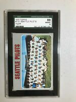 1970 topps Pilots #713 high number SGC 88